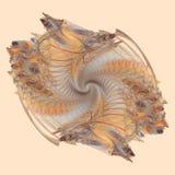 Espiral Earthy ilustração stock