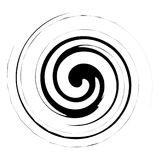 Espiral, ejemplo del giro Elemento abstracto con el estilo radial a libre illustration