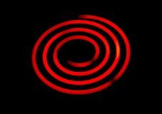 Espiral eléctrico de la estufa que brilla intensamente Fotografía de archivo libre de regalías
