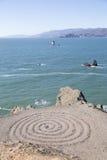 Espiral en la bahía Imágenes de archivo libres de regalías