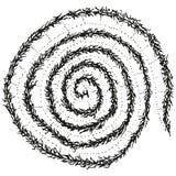 Espiral estilizado abstracto de la oruga de B&W Imagen de archivo