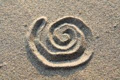Espiral firme adentro la arena foto de archivo libre de regalías