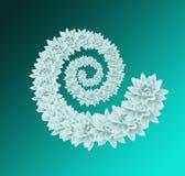 Espiral floral branca Fotos de Stock