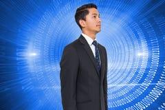 Espiral futurista de incandescência do código binário Foto de Stock Royalty Free