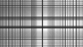 Espiral geométrica com fundo abstrato do branco do movimento dos quadrados brancos Linha preta da grade aleta aleatoriamente sobr ilustração do vetor