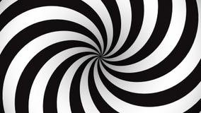 Espiral giratorio blanco y negro de la hipnosis stock de ilustración