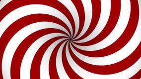 Espiral giratorio del rojo y blanco de la hipnosis stock de ilustración