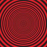 Espiral hipnótica rodopiando abstrata ilustração do vetor
