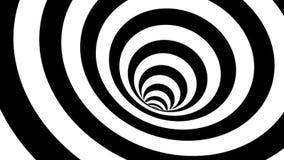 Espiral hipnótico blanco y negro Bckground abstracto stock de ilustración