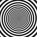 Espiral hipnótico Imágenes de archivo libres de regalías