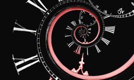 Espiral invertida do tempo da infinidade Imagens de Stock