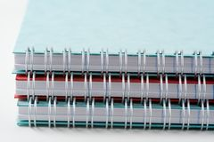 Espiral - jotters encuadernados Imagen de archivo libre de regalías