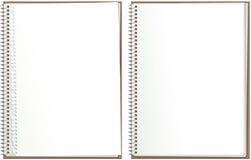 Espiral - libreta de papel encuadernada Fotos de archivo
