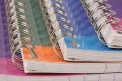 Espiral - livro de exercício encadernado imagens de stock