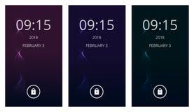 Espiral mágica no inclinação escuro Grupo de interface de utilizador moderna, ux, papéis de parede da tela do ui para o telefone  Fotos de Stock