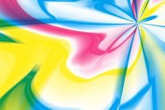 Espiral multicolor abstracto del caleidoscopio del centro Foto de archivo libre de regalías