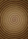 Espiral no papel Foto de Stock Royalty Free