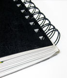- Espiral - notas encuadernadas inmóviles Imagen de archivo