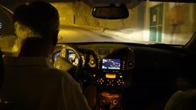 Espiral o Spiralen del túnel en Drammen, Noruega almacen de metraje de vídeo