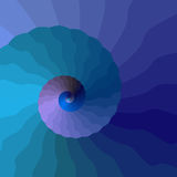 Espiral ondulada Imagens de Stock Royalty Free