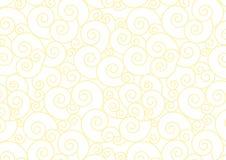 Espiral pastel amarela no fundo branco do vetor Imagens de Stock Royalty Free
