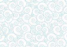 Espiral pastel azul no fundo branco do vetor Fotografia de Stock