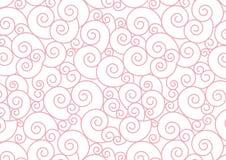 Espiral pastel cor-de-rosa no fundo branco do vetor Fotos de Stock Royalty Free
