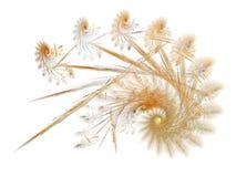 Espiral plumoso del fractal del oro stock de ilustración