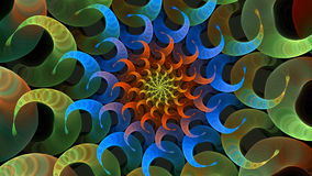 Espiral psicodélico Imagen de archivo