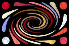 Espiral psicodélico Fotos de archivo libres de regalías
