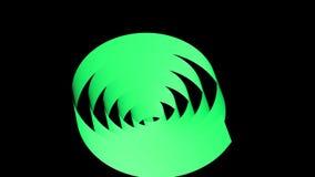 Espiral que coloca, de la cinta del color del arco iris representación 3D almacen de metraje de vídeo