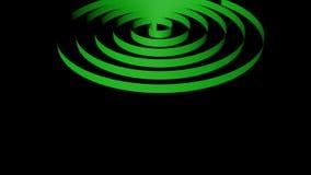 Espiral que dá laços, da fita da cor do arco-íris rendição 3D video estoque