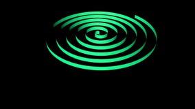 Espiral que dá laços, da fita da cor do arco-íris rendição 3D vídeos de arquivo