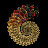 Espiral reptil Foto de archivo libre de regalías