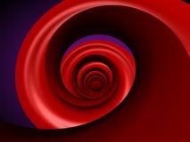 Espiral rojo Fotos de archivo libres de regalías