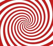 Espiral rojo y blanco Foto de archivo libre de regalías