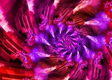 Espiral rosado púrpura ilustración del vector