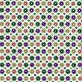 Espiral sem emenda da decoração do sumário sem emenda abstrato do teste padrão do verão da beleza da flor do teste padrão do quad Imagens de Stock Royalty Free