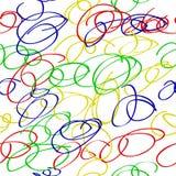 Espiral sem emenda de Abstact do teste padrão colorfulScribble para o fundo, o envoltório de papel, a bandeira etc. ilustração stock