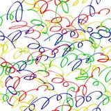 Espiral sem emenda de Abstact do teste padr?o colorfulScribble para o fundo, o envolt?rio de papel, a bandeira etc. ilustração stock