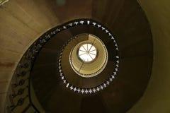 A espiral Straircase disparou da parte inferior imagens de stock royalty free