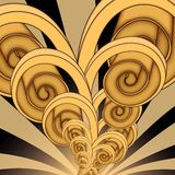 Espiral torcido Imagen de archivo libre de regalías