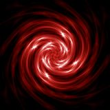 Espiral vermelha abstrata Foto de Stock Royalty Free