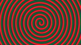 Espiral volumétrico de giro con efecto de la ilusión óptica libre illustration
