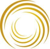 Espirale do circundamento no ouro, na música e no fundo sadio ilustração royalty free