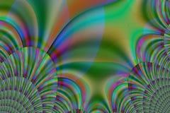 Espirales únicos multicolores Imagen de archivo