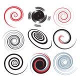 Espirales azules Imagenes de archivo