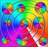 Espirales, caracoles, como una piruleta fotos de archivo libres de regalías