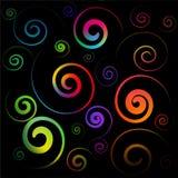 Espirales coloridos Foto de archivo libre de regalías
