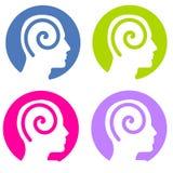Espirales de la mente de la psicología Imagenes de archivo